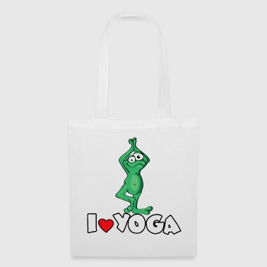 The Yoga Frog loves the position of the tree - Tote Bag