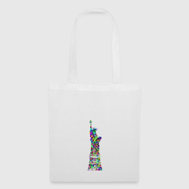 Statue of Liberty in rainbow colors - Tote Bag