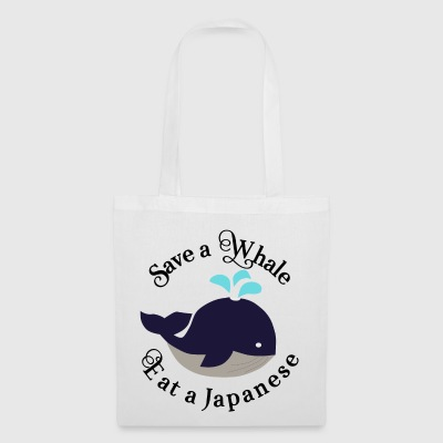 Japan whale fish animal welfare conservation eco vegan - Tote Bag