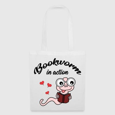 bookworm in action - reading - books - Tote Bag