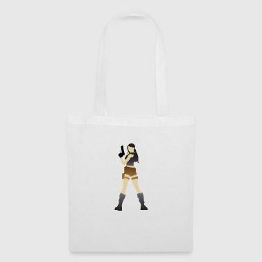 A Sexy Grave Hunter With Two Guns - Tote Bag