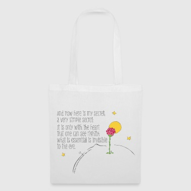 The Little Prince Quote Heart Sees Rightly - Tote Bag