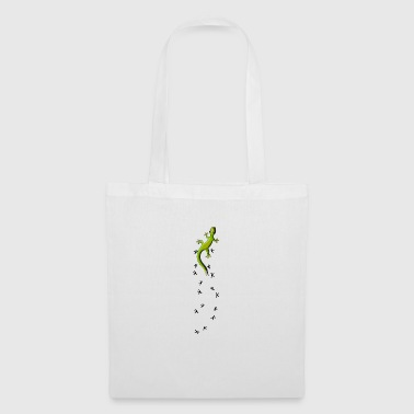 Gecko with tracks climb crawling cool gift - Tote Bag