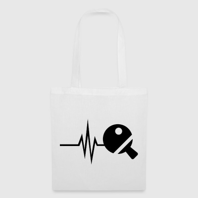 My heart beats for table tennis - tennis ball - Tote Bag
