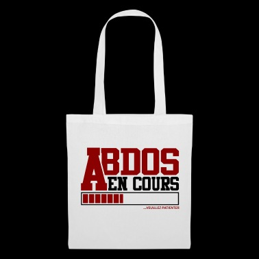 T-shirt Musculation / Fitness - Abdos en Cours - Tote Bag