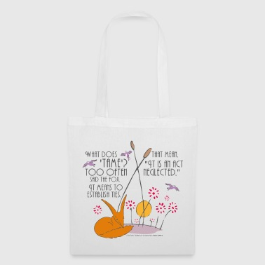 The Little Prince Friendship Taming The Fox - Tote Bag