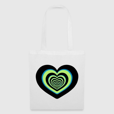 CŒUR MULTICOLORE - Tote Bag