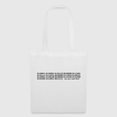 Binary Code Can you read this? - Tote Bag