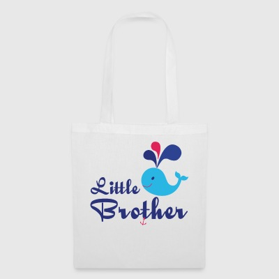 Little Brother. Whale, sea, anchor. Personalise - Tote Bag