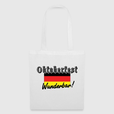 Oktoberfest Wunderbar German Flag - Tote Bag