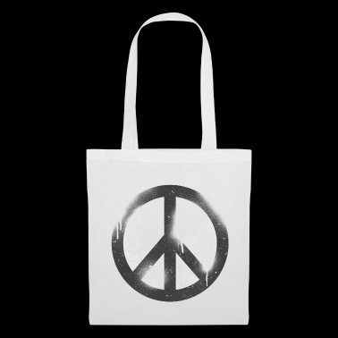 Peace in grunge style - Tote Bag