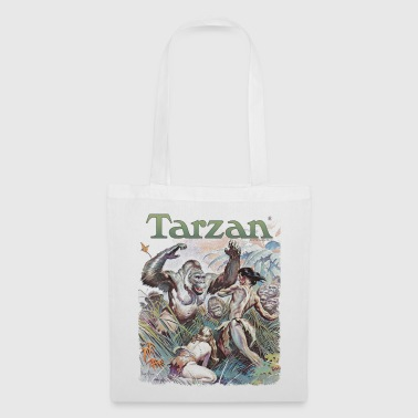 Tarzan and wild apes - Tote Bag