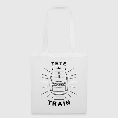 Tete_De_Train_Black_Aubstd - Borsa di stoffa