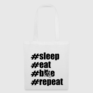 sleep eat bike repeat x - Stoffbeutel