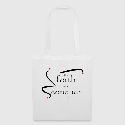 go_forth_red_black - Tote Bag