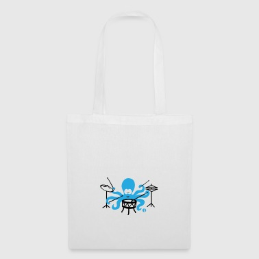 Funny squid drummer octopus drums - Tote Bag