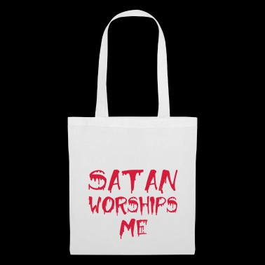 satan worships me - Tote Bag