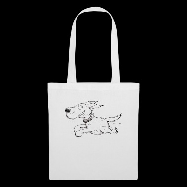 Funny Running Dog - Comic - Borsa di stoffa