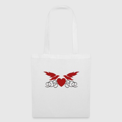 Heart with wings - Tote Bag