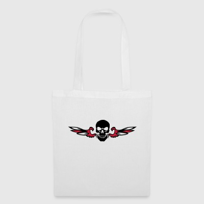 winged head of death - Tote Bag