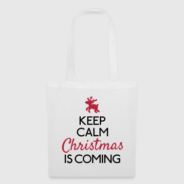 Keep Calm Christmas is coming - Stoffbeutel