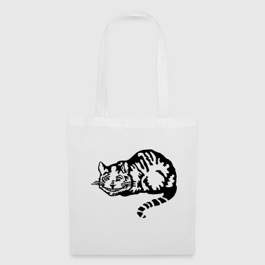 Cheshire cat gatto - Borsa di stoffa