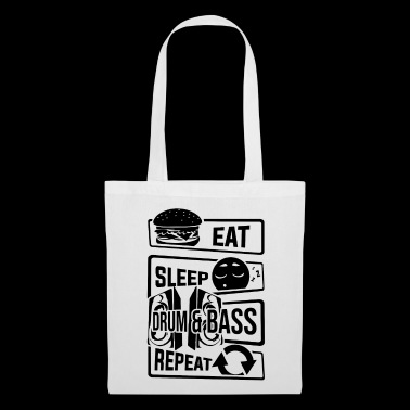 Eat Sleep Drum & Bass Repeat - Party Festival Beat - Stoffbeutel