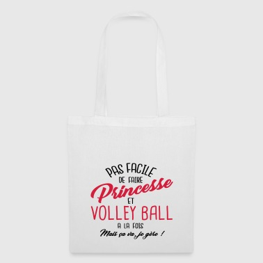 Princesse et volley ball - Tote Bag