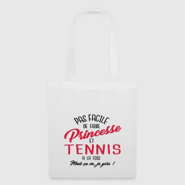 Princesse et tennis - Tote Bag