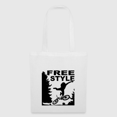 Departing Biker MTB bike forest departure fall - Tote Bag