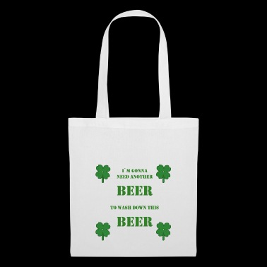 St. Patricks Day Kleeblatt Bier saufen Party - Stoffbeutel