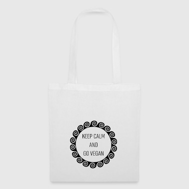 keep calm and go vegan - Tote Bag