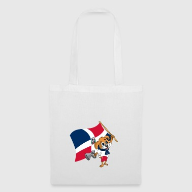 Dominican Republic fan dog - Tote Bag