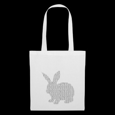 Easter Bunny made up of numbers (black) - Tote Bag