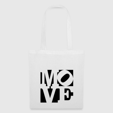 move Homage to Robert Indiana move black outside - Tote Bag