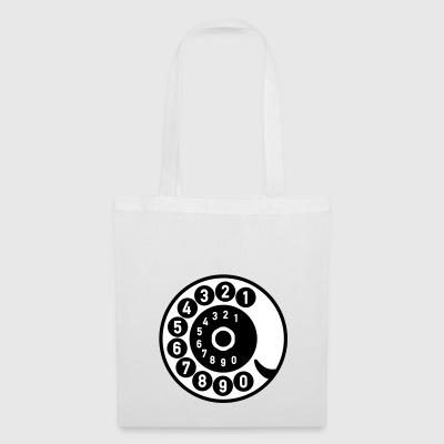 Vintage telephone retro nostalgic dial old - Tote Bag