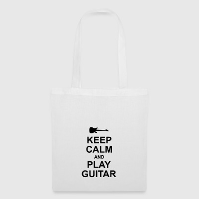 keep calm and play guitar - Stoffbeutel