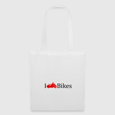 I love motorcycles red gift idea - Tote Bag