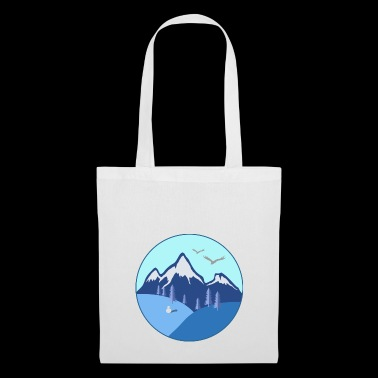 Winter mountains gift firs eagle snowman - Tote Bag