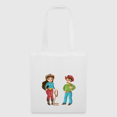 Western Couple - Tote Bag