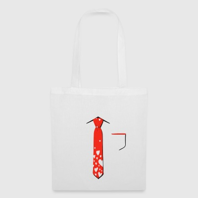 Valentine's Day Neck Tie With Pocket - Tote Bag