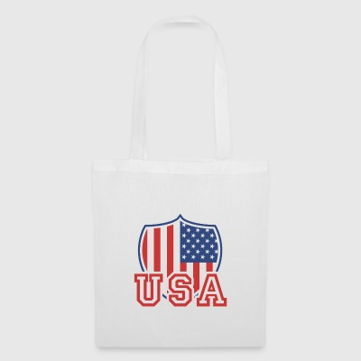 USA T-shirt Drapeau américain Vintage Shield - Tote Bag