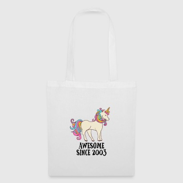 Awesome Since 2003 unicorn birthday gift - Tote Bag