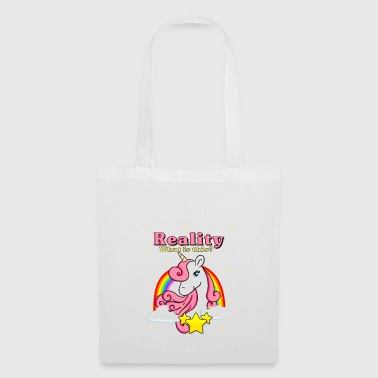 regalo stella Unicorn Rainbow Clouds - Borsa di stoffa