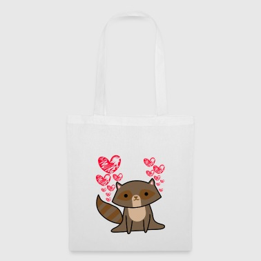 Raton laveur Lovely Valentine's Day Coeurs mignons - Tote Bag