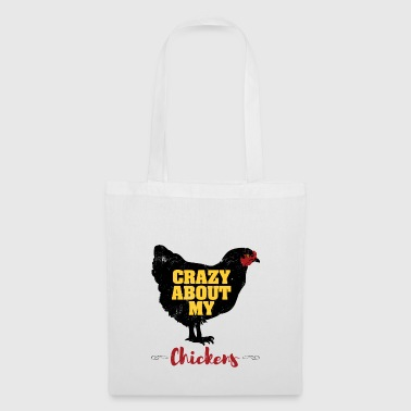 Crazy About My Chickens T-shirt - Tote Bag