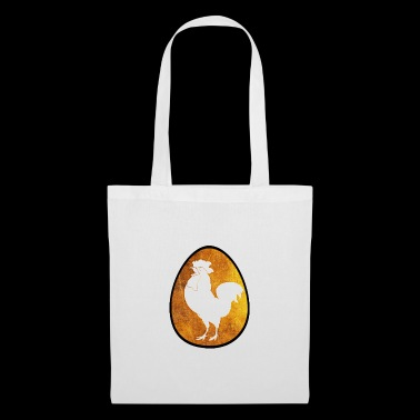Cock white oval egg brown gift idea - Tote Bag