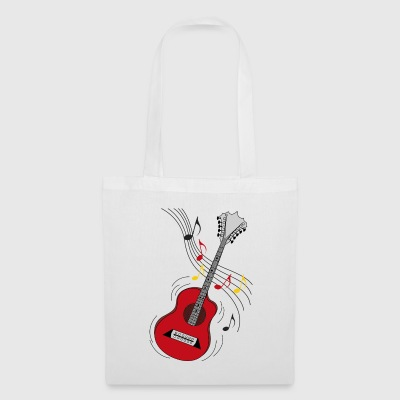 red guitar - Tote Bag