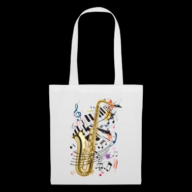 Sax, piano and notes - Tote Bag