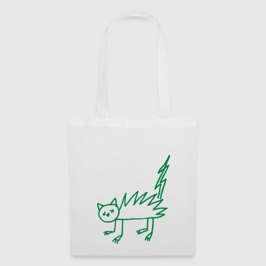 Halloween Undead zombie cat flash - Tote Bag